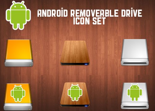 Android Removable Drive Icon Set
