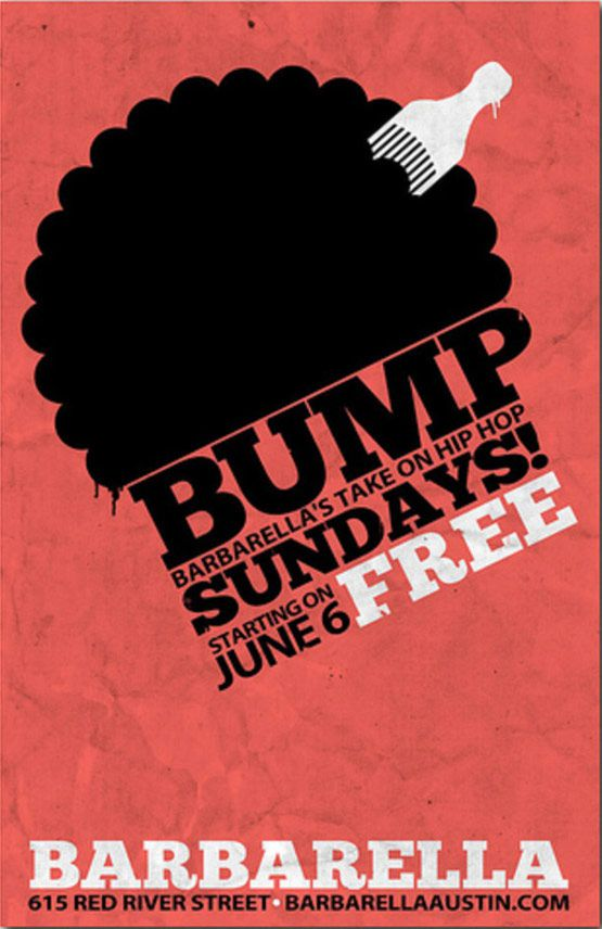 Barbarella Austin Bump Nights Party Flyers Design Templates