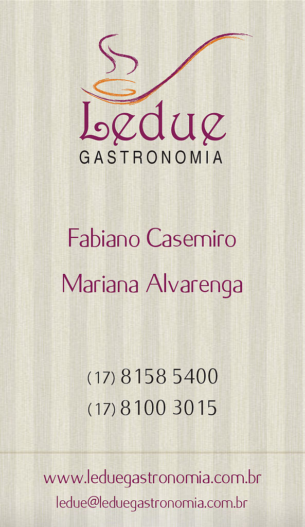 Cartao de Visita Ledue Gastronomia Party Flyers Design Templates