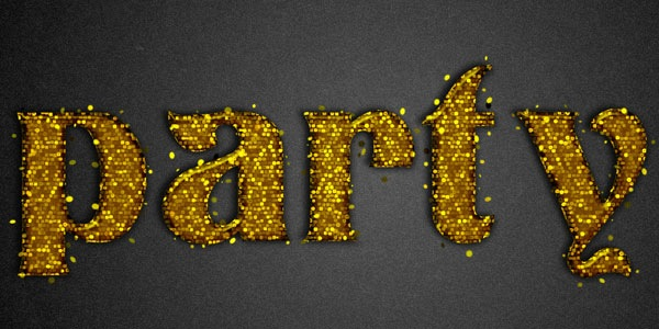 Learn to Create Party Text Effect