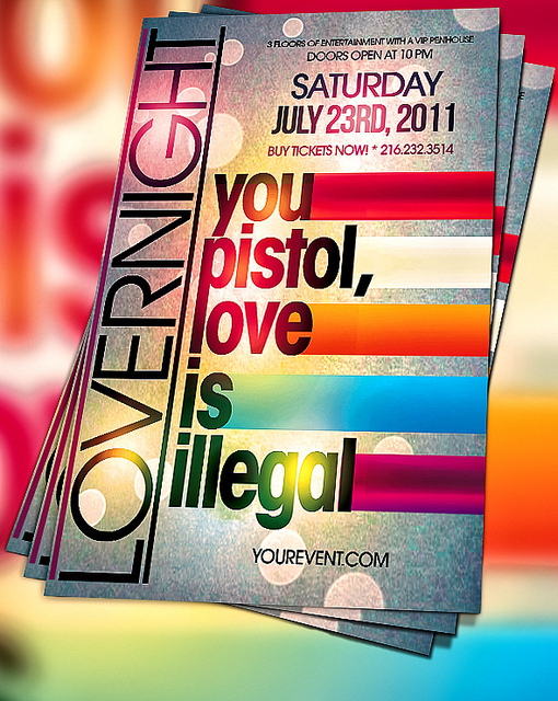 PSD Lover Party Flyers Design Templates