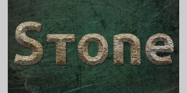 Stone Text Effect