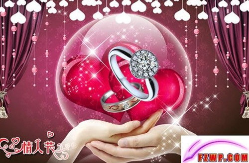 Valentine PSD Rings, Hearts and Hands