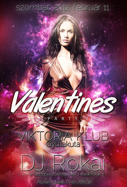Valentines Party Flyers Design Templates