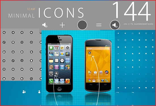 free-Android-144-minimal-icons-package