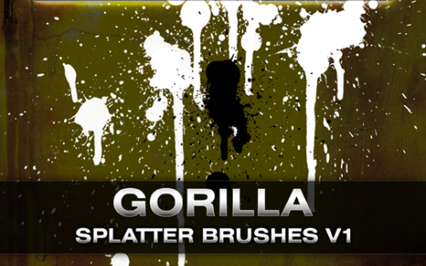 10 Gorilla Splatter Brushes
