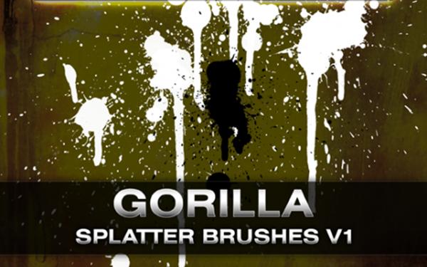 10 Gorilla Splatter Brushes