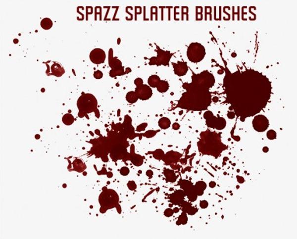 11 Spazz Splatter Brushes