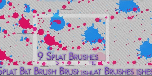 9 Splat Brushes