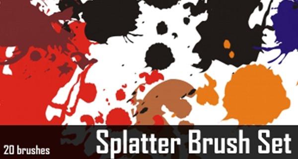 Brushes Paint Splatter