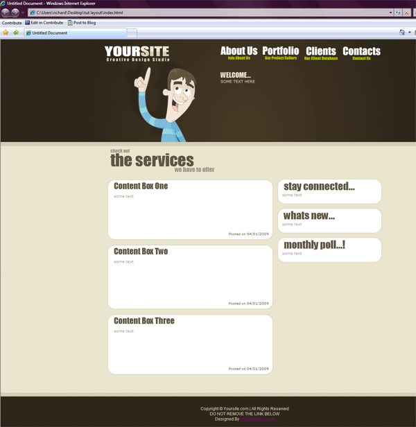 Coding The Creative Design Layout PSD to HTML/CSS Conversion Tutorials