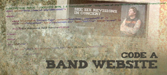Coding a Band Website PSD to HTML/CSS Conversion Tutorials