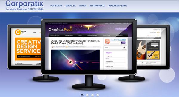 Convert Business PSD template to HTML CSS tutorial