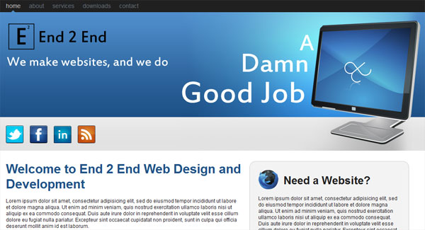 Design a Web 2.0 Layout Pt PSD to HTML/CSS Conversion Tutorials