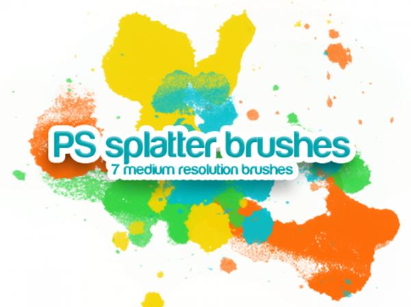 Handmade Splatter Brushes