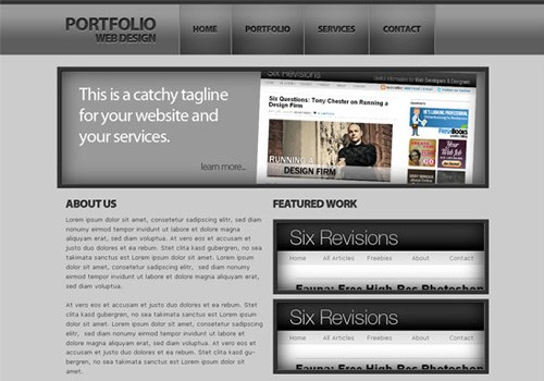 Dark and Sleek Web Design PSD to HTML/CSS Conversion Tutorials