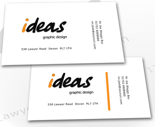 Ideas free business card PSD