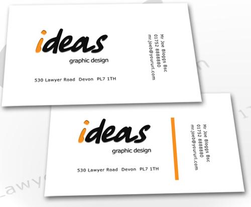 Ideas free business card PSD