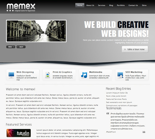 65 awesome free wordpress themes for business websites psdreview awesome free wordpress themes for business websites accmission Image collections