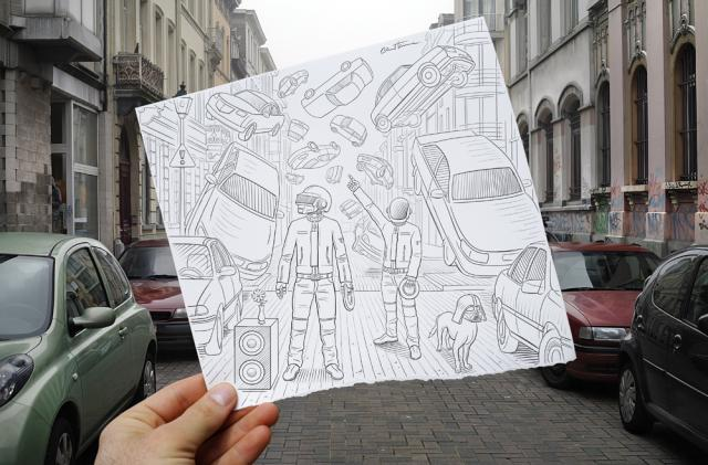 Pencil Vs Camera-  by Ben Heine