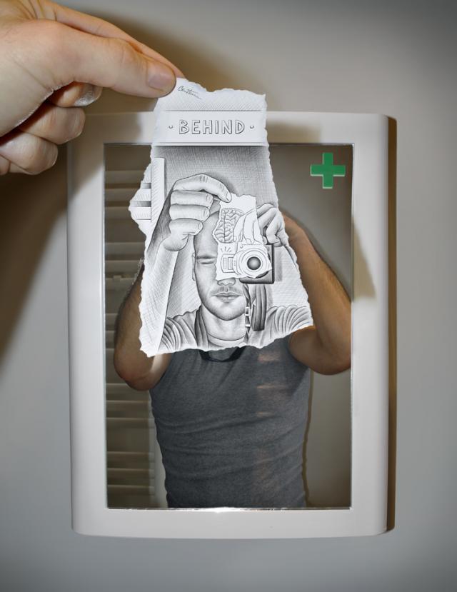 Pencil Vs Camera - by Ben Heine