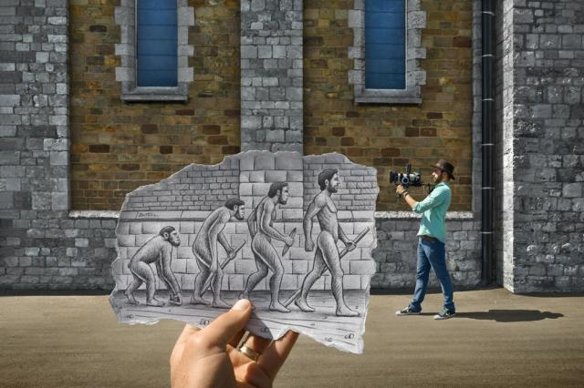 Pencil Vs Camera - by Ben Heine