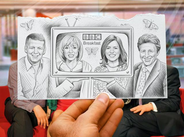 Pencil Vs Camera for BBC Breakfast by Ben Heine