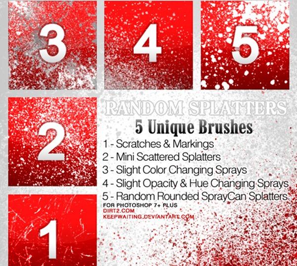 Random Splatter Brush