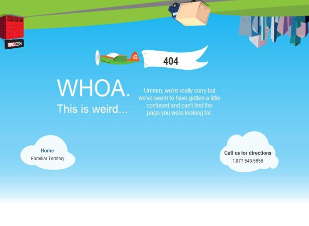 404 Not Found Error Page Designs