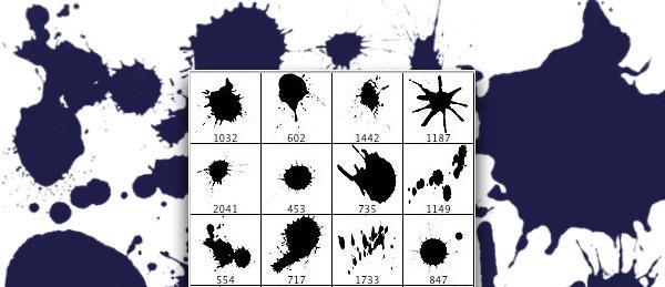 Sumi-Ink-Splatters