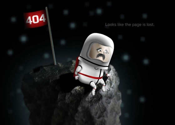 Find 404 Not Found Error Page Designs