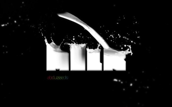 Awesome Milk Typography Effect in Photoshop