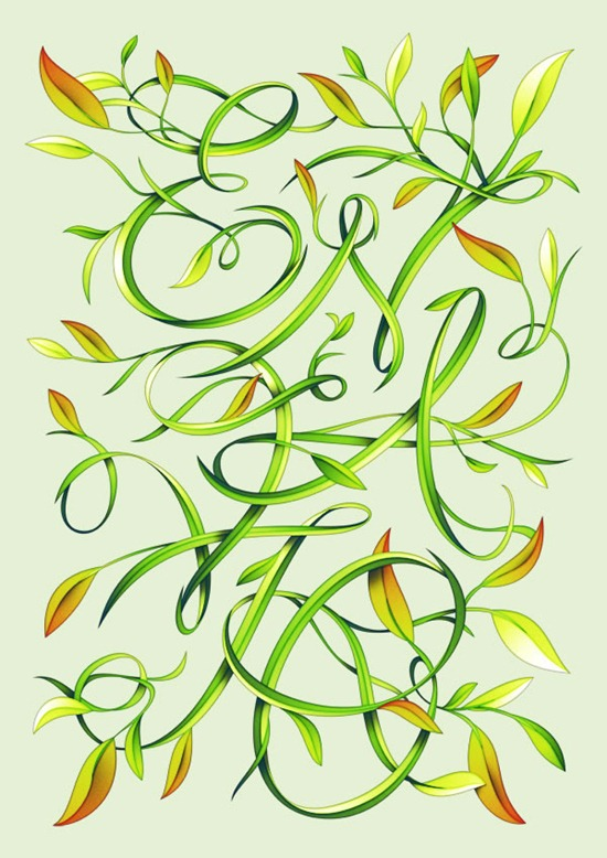 Create Elegant Leafy Lettering in Photoshop