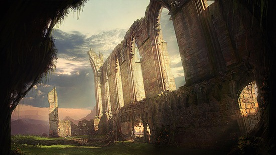 Create Ruins of a Forgotten Abbey in Photoshop