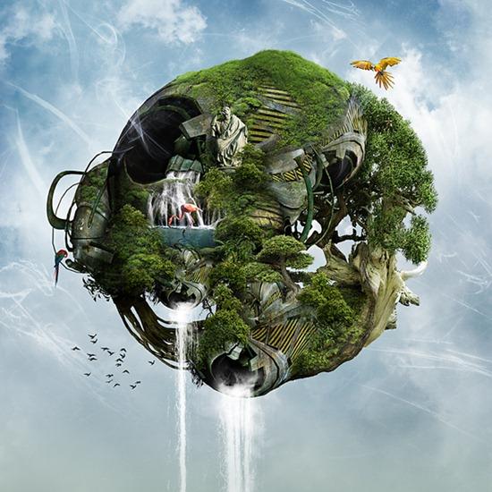 Create a Biomechanical Floating Ecosystem