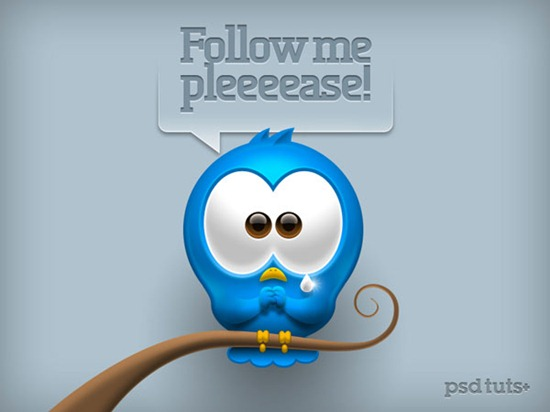 Create a Cute Twitter Bird Icon in Photoshop