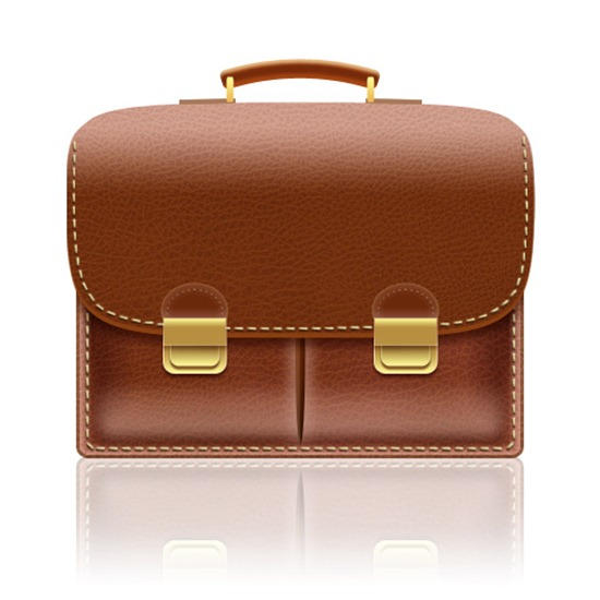 Create a Leather-Textured, Realistic Briefcase Icon