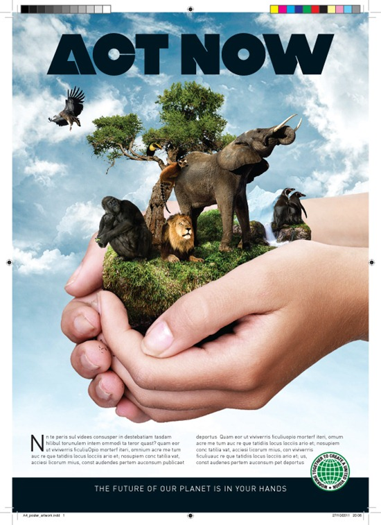 Create a Print-Ready Environmental Poster