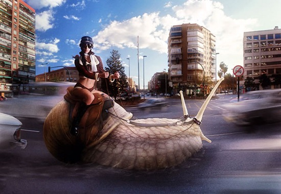 Create a Racing Snail in Photoshop
