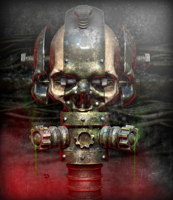 Create a Rusty and Worn Metallic Textured Skull Using 3D Renders