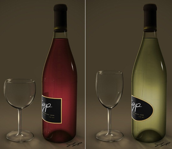 Create a Wine Bottle and Glass with Smart Objects