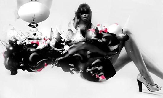 Create an Abstract Black and White Illustration in Photoshop