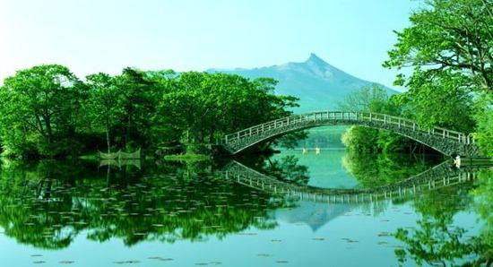 Hokkaido Bridge Landscape