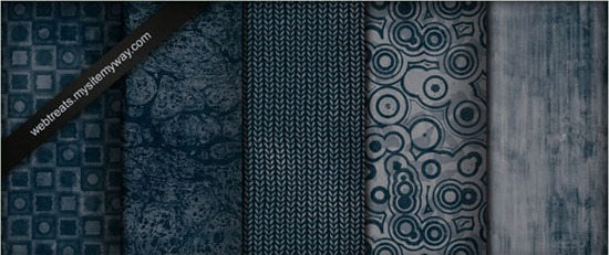 Midnight Blue Grunge Patterns