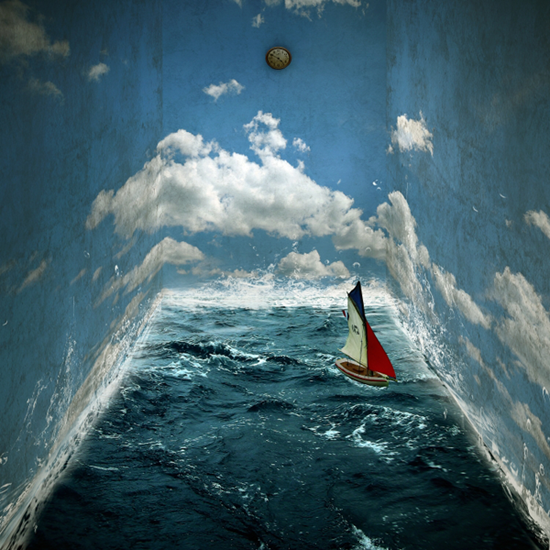Surrealistic Room Photo Manipulation