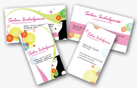 2 Double-Sided Beauty Business Cards in Pretty Pink
