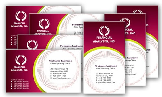 2 Professional Business Card Templates for Financial Businesses