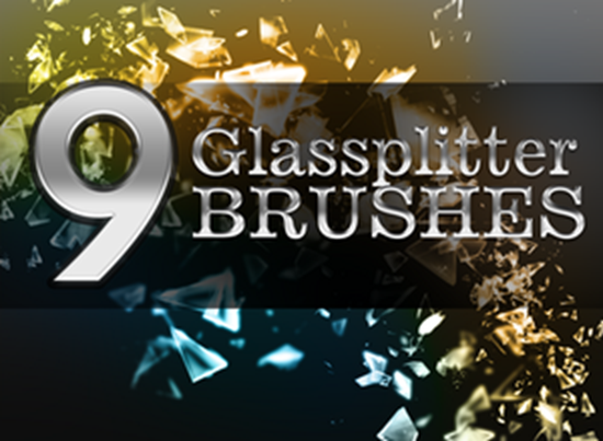 9 Glassplitter Brushes