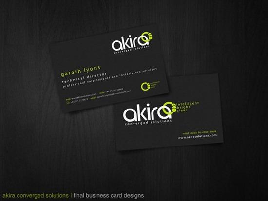 Akira business cards