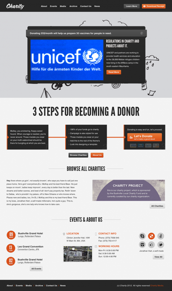 Create a Charity Website Layout in Photoshop